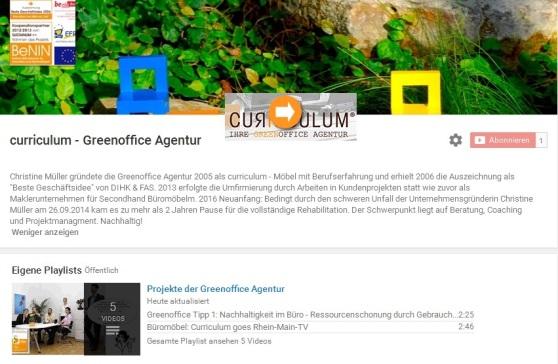 curriculum-Greenoffice youtube channel mit Pfeil